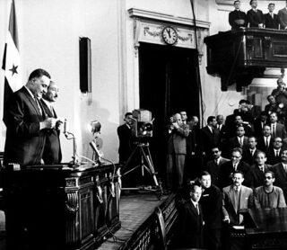Nasser wordt opnieuw ingezworen als president van Egypte, 1965