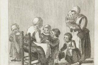 Schoolklas, Pieter de Mare, naar Christina Chalon, 1777-1779
