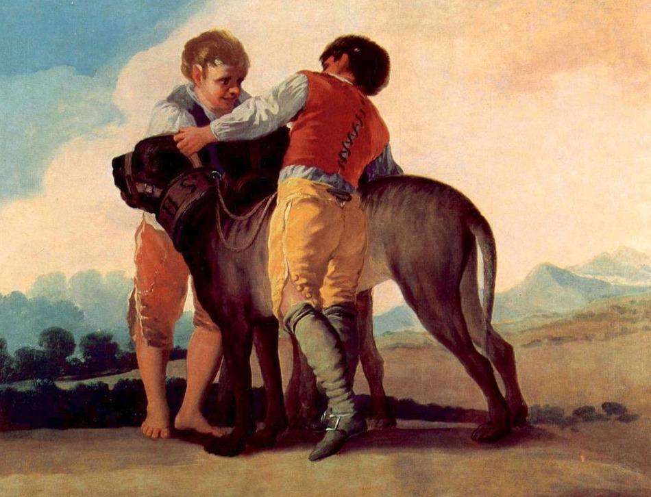 Spaanse molosser (18e eeuw) Francisco Goya