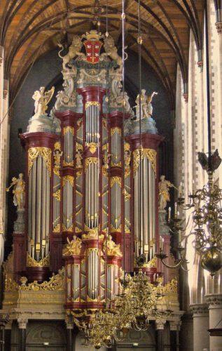 Voorzijde van het Christian Müllerorgel