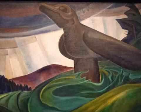 E. Carr, Big Raven 1931 (Art Canada Institute) foto Marina Marijnen