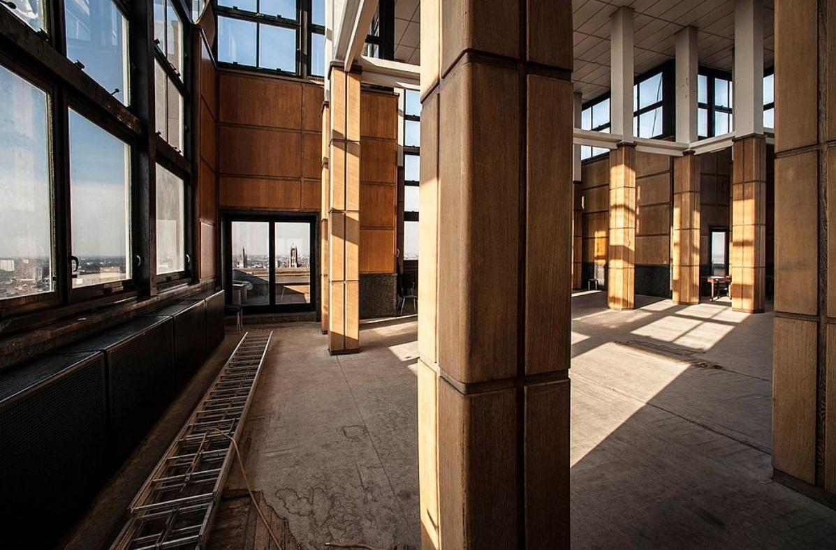 Boekentoren UGent - de belvedère boven de 24-ste verdieping, 2013