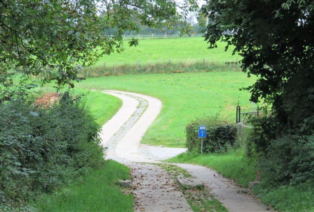 Een stuk van de Romeinse heerweg in Haspengouw
