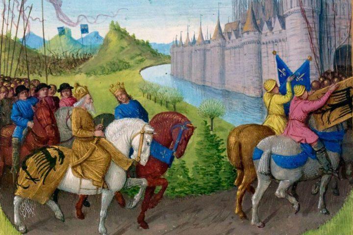 Aankomst van kruisvaarders in Constantinopel