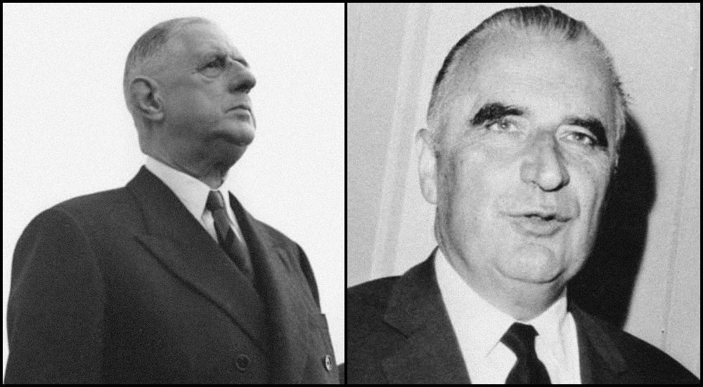 Charles de Gaulle en Georges Pompidou