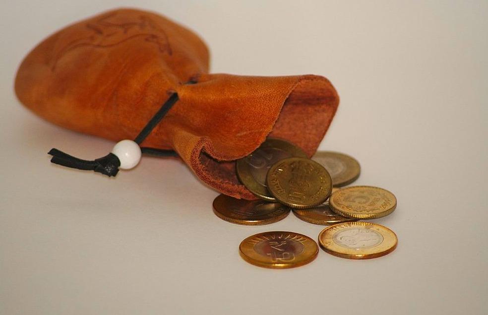 Oud geldbuideltje
