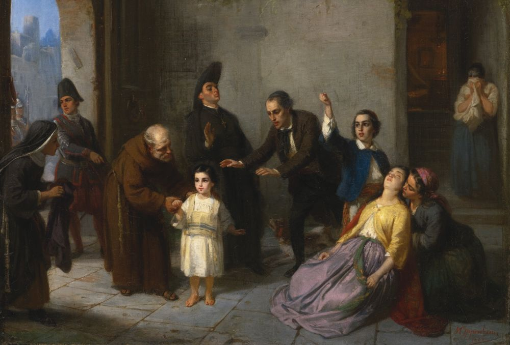 De ontvoering van Edgardo Mortara - Moritz Daniel Oppenheim, 1862