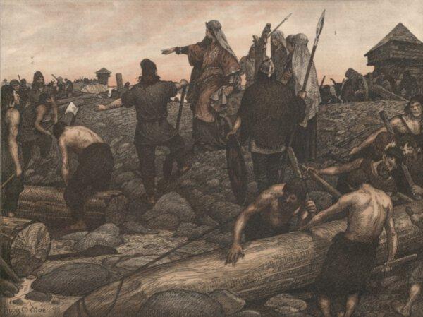 De slavenhandel van de Vikingen